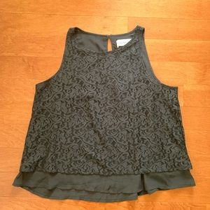 abercrombie lacey blouse looks gray but is black